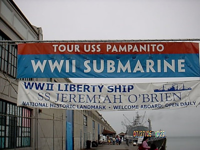 USS Pampanito Submarine <br /> Had to take a tour of a WW2 submarine. Never had been on one before,the next few pictures are of this submarine.