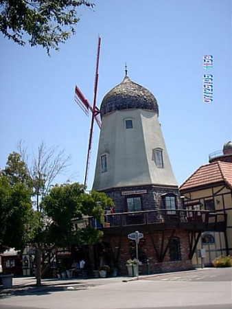 This windmill is just for looks,it houses a couple of shops.