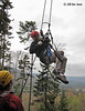 Bretton Woods Canopy Tour. Intermediate rappel - approx 40' from one platform to another.