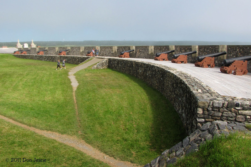 Dauphin Demi-Bastion, Fortress Louisbourg Natl Historic Site.
