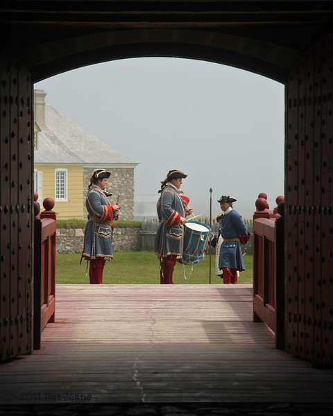 Fortress Louisbourg Natl Historic Site. Drums and fifers.