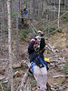 Bretton Woods Canopy Tour. One of the frist (short) zip lines.