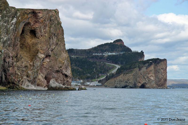 Perce' Rock and road North.