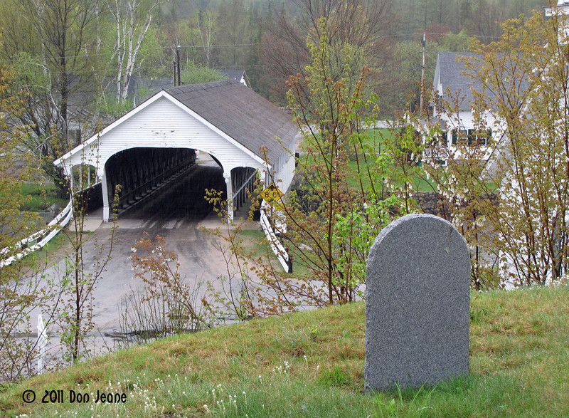 Stark Union Church and Covered bridge, Stark,NH.