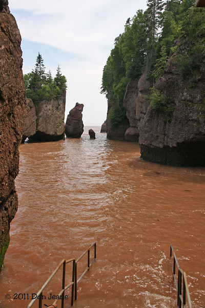 Hopewell Rocks Prov Park, NB a little before high tide on the Bay of Fundy.