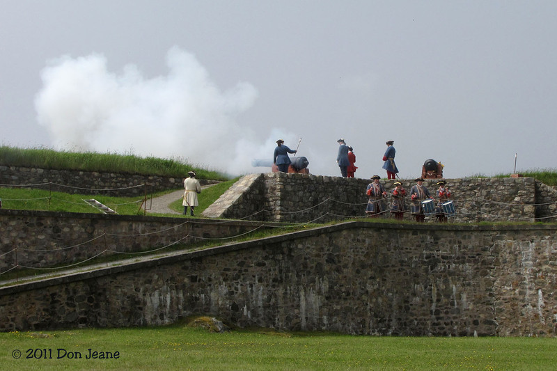 King's Bastion Ramparts cannon firing, Fortress Louisbourg Natl Historic Site.
