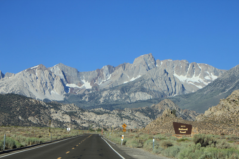 8/14/11 West Line Street (Hwy. 168), heading west from Bishop to South Lake. Inyo National Forest, Inyo County, CA