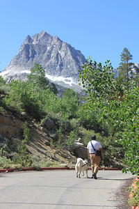 8/14/11 Gil and Hana, moseying their way back to the parking lot. South Lake, Inyo National Forest, Inyo County, CA