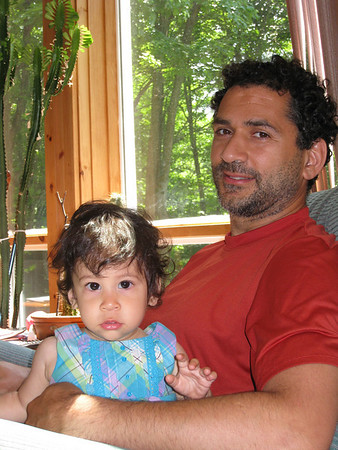 The pretty Cyane and Daddy at the cottage.