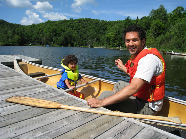 Back from a canoe trip around the lake.