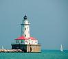 Lighthouse on Lake Michigan