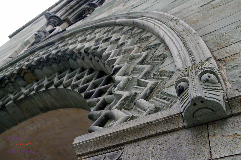 The carvings on the Cathedral in Trondheim - the oldest in Europe - had a somewhat Mayan look to them