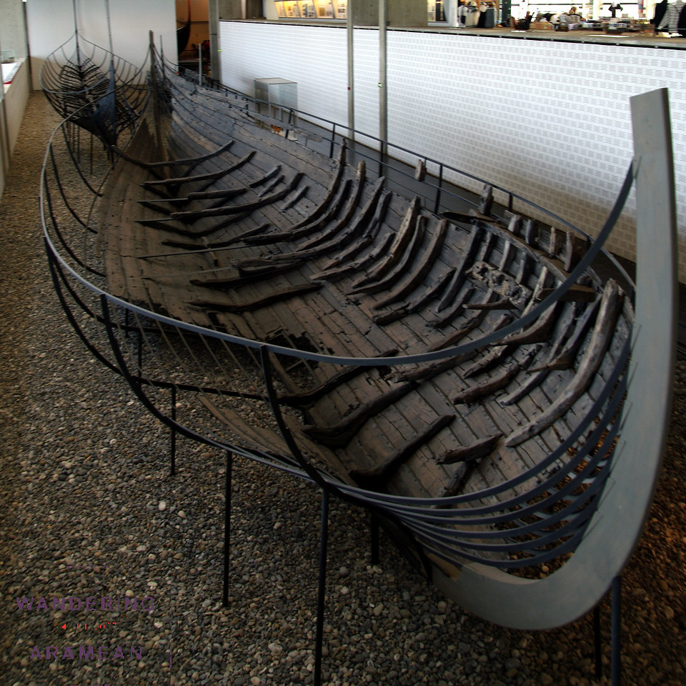 One of the Viking ships recovered and out on display in Roskilde