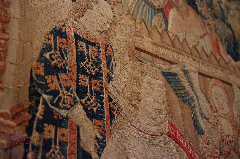 One of the many tapestries on display; the level of detail was rather amazing