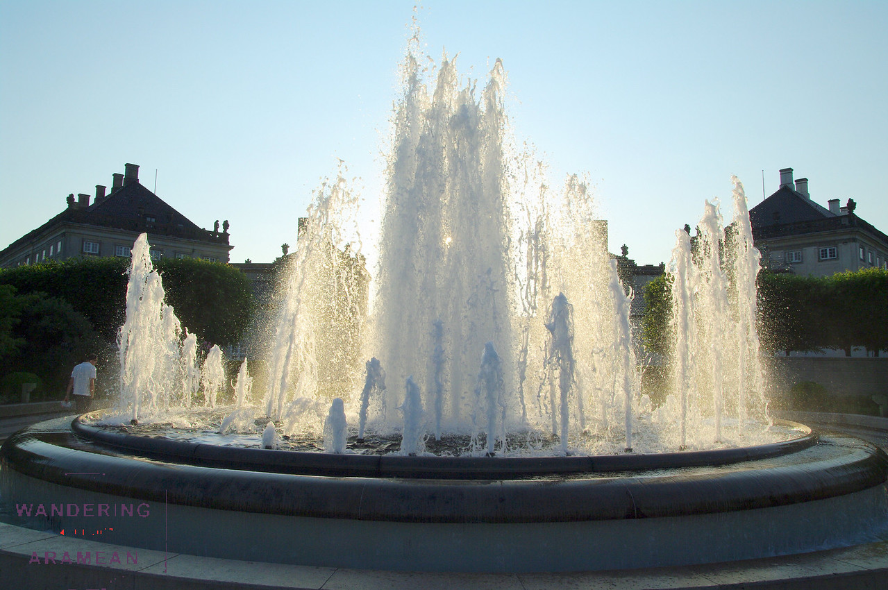 A fountain at Amalihavn, a public park