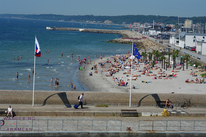 A Swedish beach in Helsingbor