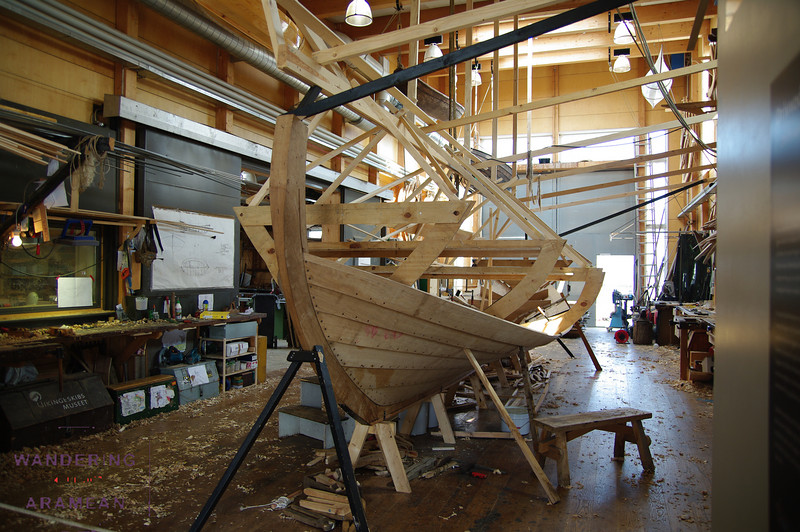 A replica ship being built in Roskilde