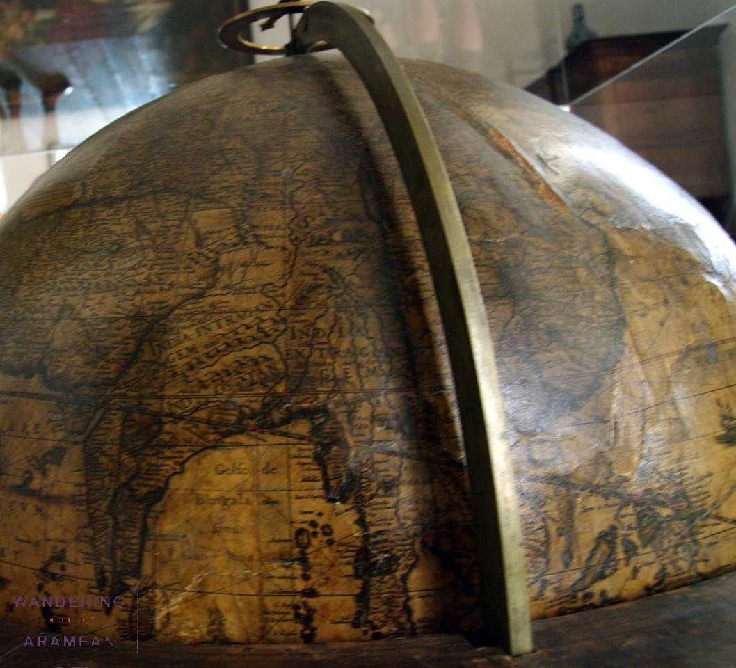 One of a couple globes from the 1500s.