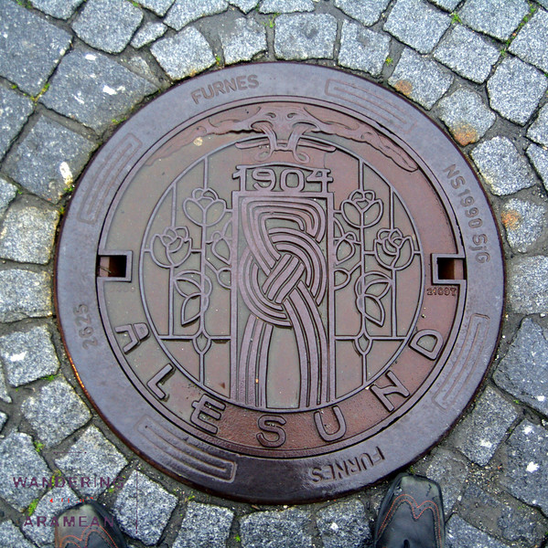 One of the cool manhole covers in Alesund