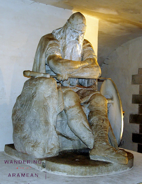 Holger Danske, waiting for Denmark to be threatened so he can rise up to defend it again