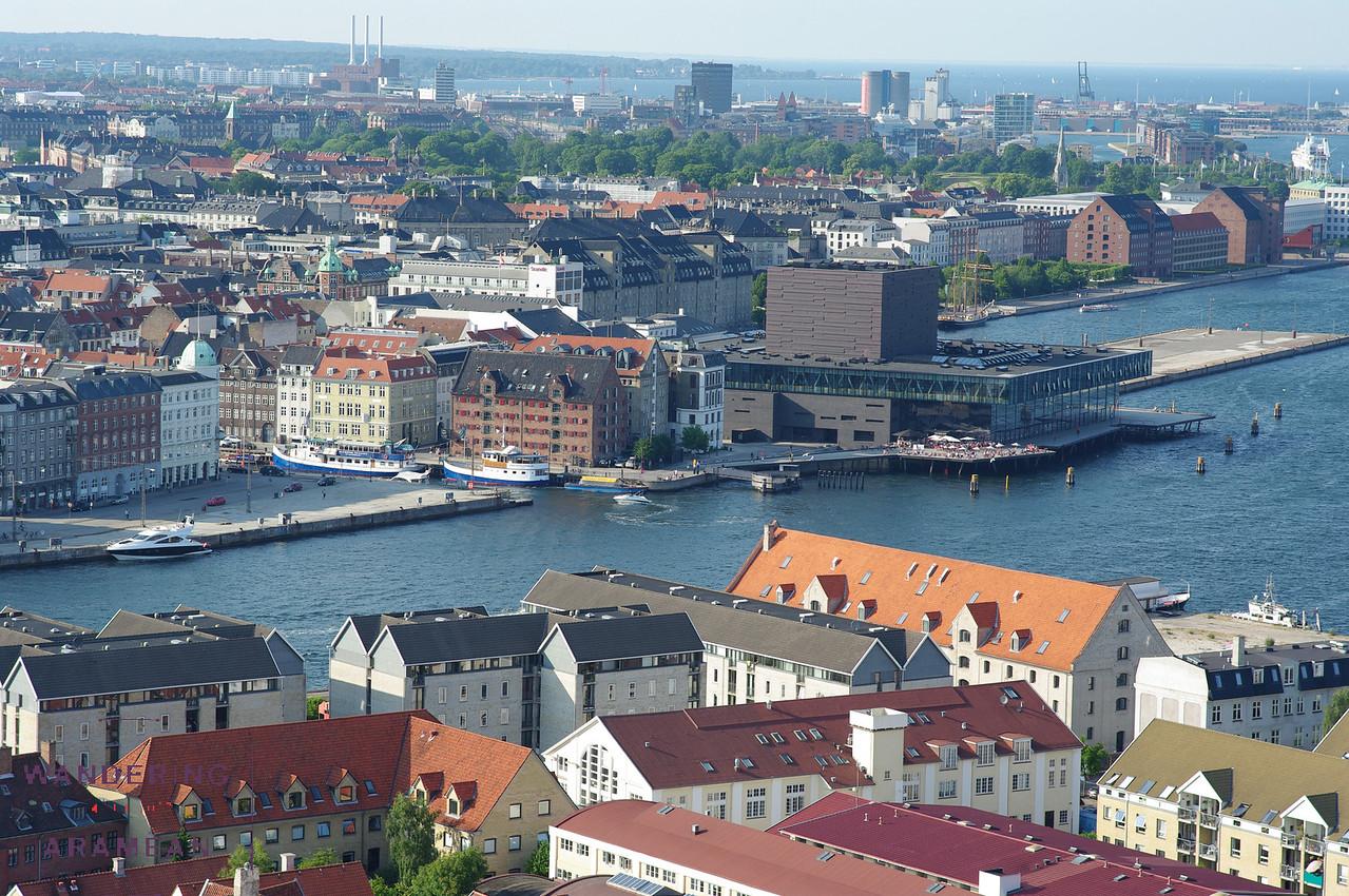Views of Copenhagen from the top of Vor Freslers Kirke