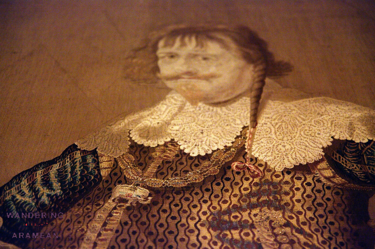 This tapestry was woven with silk, gold and sliver threads.  Pretty amazing