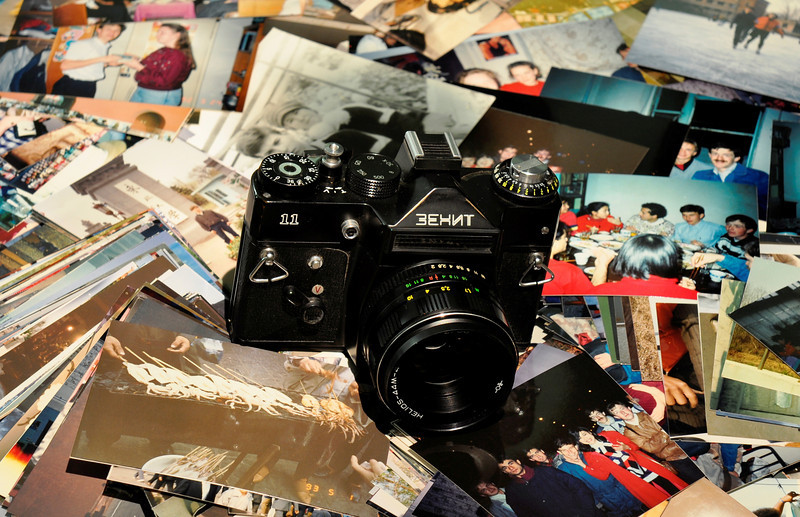 "Zenit.  Soviet Classic 35 mm camera. <br /> <br />  <a href=""http://sillymonkeyphoto.com"">http://sillymonkeyphoto.com</a>"