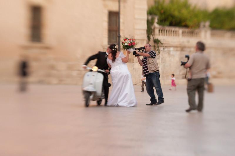 Saturday Evening Wedding, Piazza Duomo, Siracusa