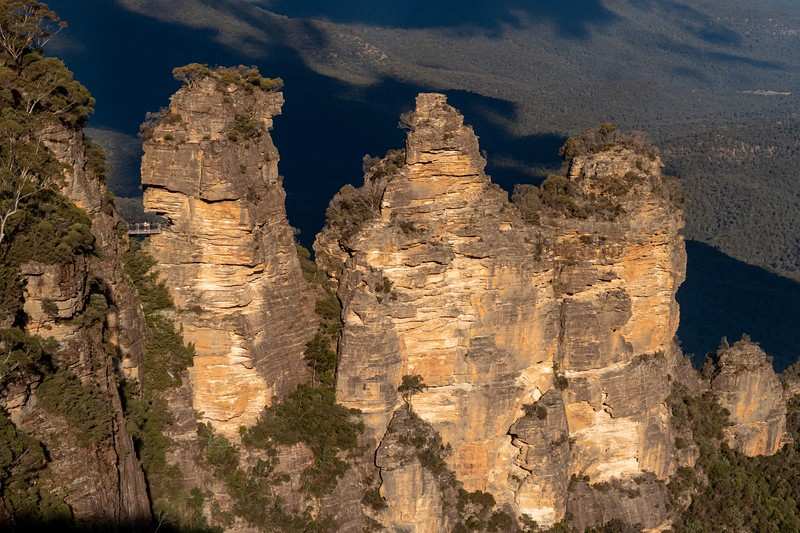 A nice view of the Three Sisters a little later in the day.