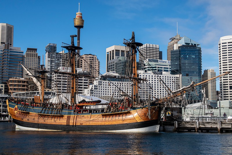 A lot has changed to Sydney since the first visit of the actual ship!
