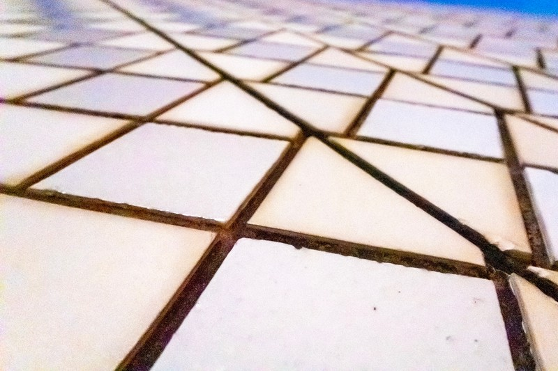A closeup of the tiles that make up the outer structure of the Sydney Opera House