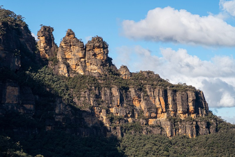 """The three rock pillars are named the """"Three Sisters""""."""