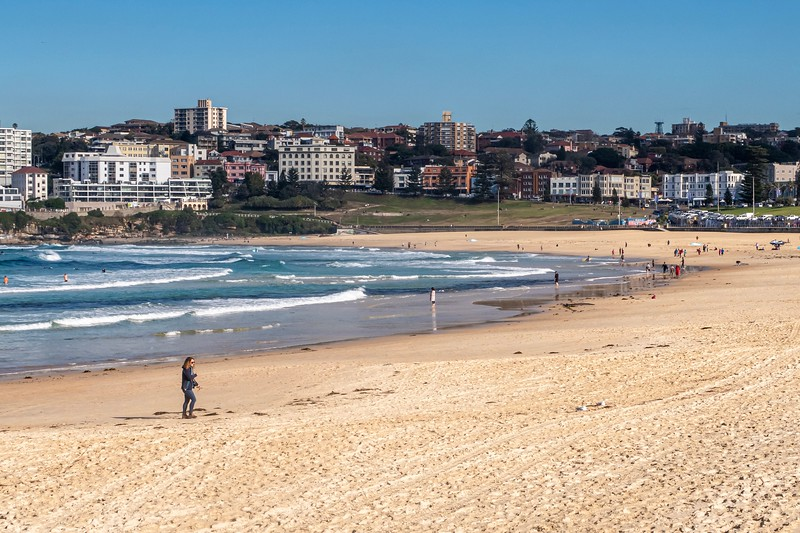 The famous Bondi Beach.  It's a sad thing that I left my Speedo at home...