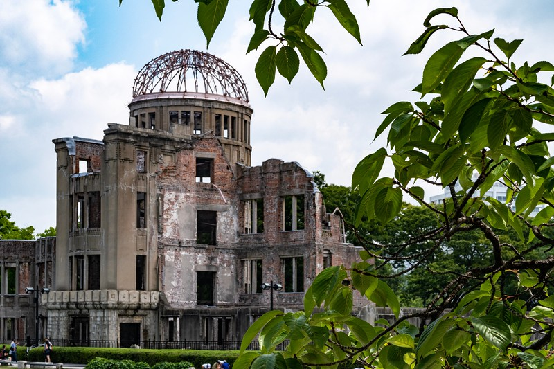 "The first day in the area was spent at Hiroshima.  This is the one part of the trip that is a repeat from my Japan visit two years ago.  While I had done Hiroshima before, I love the town and wanted to do it again.  This is a picture of the ""A-Bomb Dome"".  The atomic bomb dropped on Hiroshima detonated roughly 600m above this building.  It stands now as a powerful witness to the power of the bomb."
