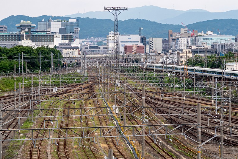 This is a shot from the top of the Museum showing the entrance to Kyoto Station (The station is in the background).  Madness!