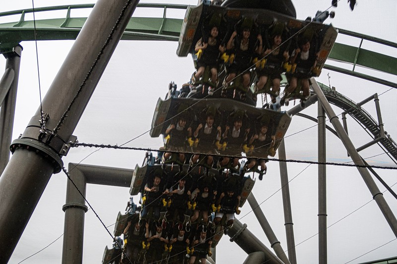 A fun shot of the coaster.  They are pretty strict about not having ANYTHING in your pockets for obvious reasons.