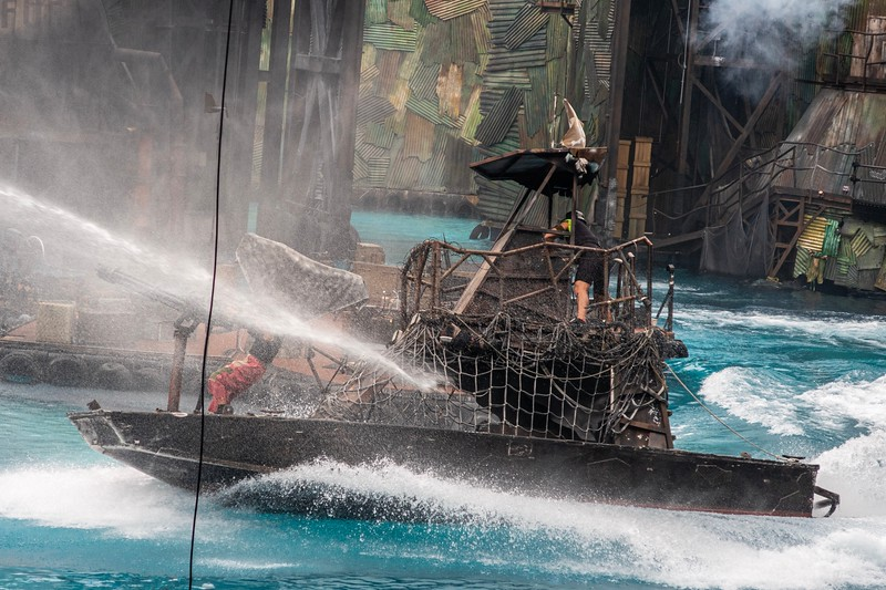 Waterworld - remember when that was a thing!  They put on a really neat Waterworld stunt show with boats, divers, fires, etc...