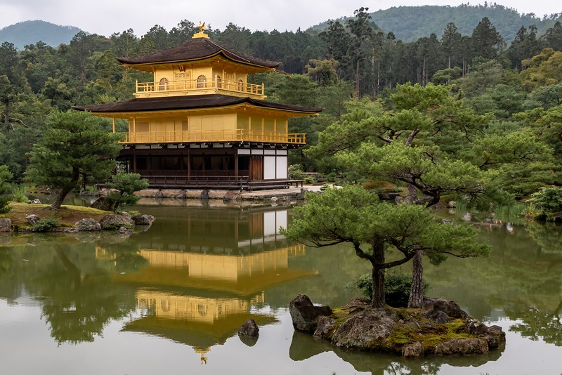 Later in the day I made it to one site that I very much wanted to see - the Golden Pavilion (actual name of Kinkakujicho).  It's absolutely stunning to look at - it is covered in gold leaf.