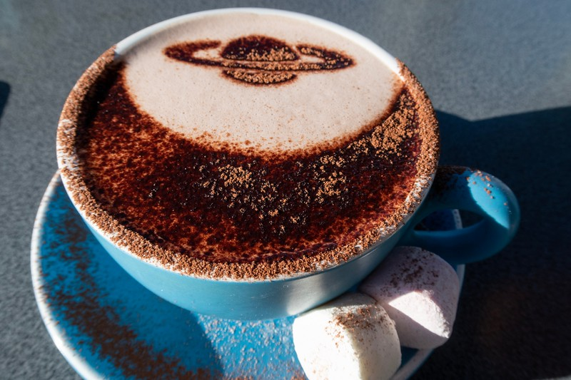 There was a cafe at the Mt. John observatory.  They even made my hot chocolate look neat!