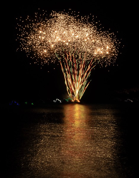 As part of the Winter Festival, they had a fireworks show in the bay.  It was pretty fun!
