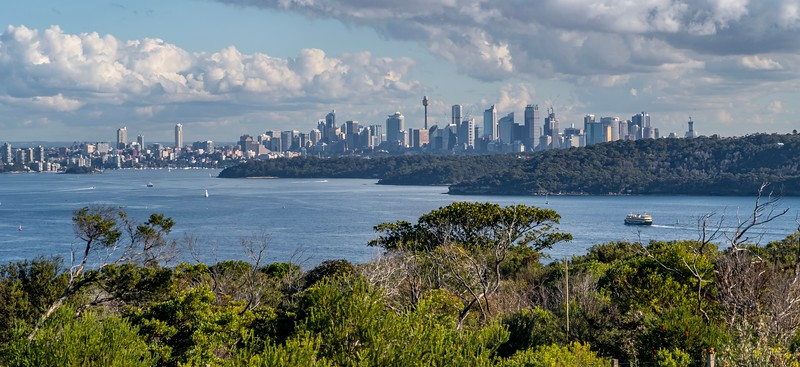 Sydney from one of the lookouts at Manly.