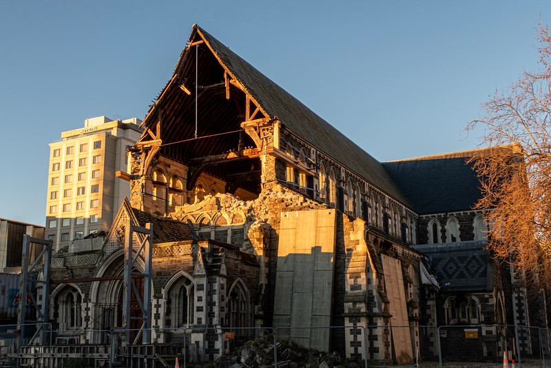 Christchurch, New Zealand.  More on this church in a bit...I just liked the sunset shot.