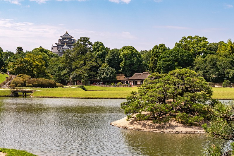 Next to the castle, you will find the Korakuen Gardens.  These are one the three great gardens in Japan.  It's a pretty nice area with all sorts of different plants to check out.
