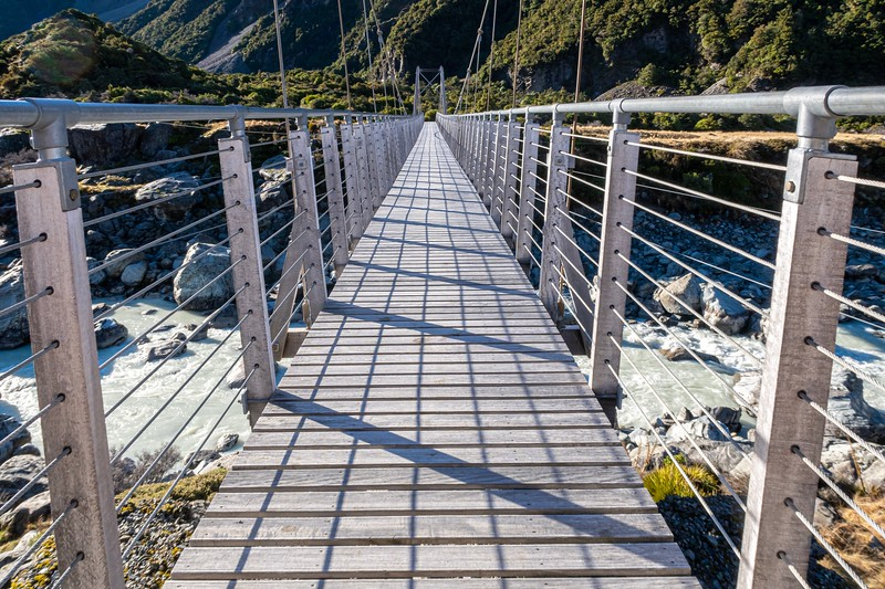 Cool bridge to Hooker Lake.  This is one of these situations where photos sometimes make adventures look more exciting than they actually were...the bridge was closed (the camera is resting on the gate) due to a washed out trail ahead.  Bummer!