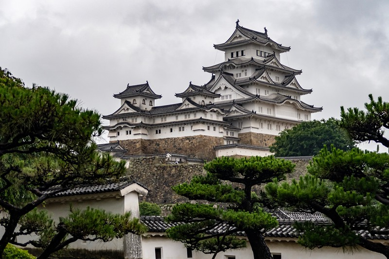 My first site to visit in Japan was Himeji Castle.  This is one Japan's most beautiful castles, and one of the few castles that wasn't destroyed by war or fire.  The inside is all wooden (there's not a ton inside worth a photo...plus it was quite dark).  It was pouring rain when I arrived at the site...luckily, it soon cleared up (and I got to lug around an umbrella for the rest of the day!)