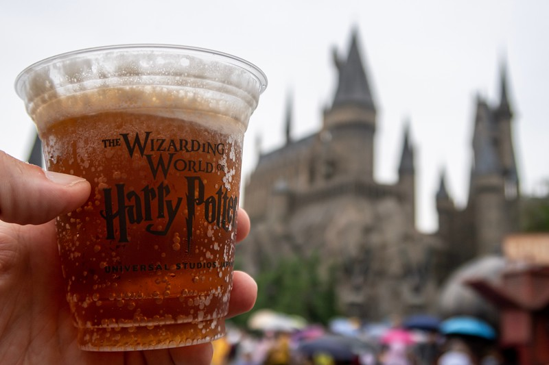 When in Japan, it's important to drink the local drinks...Butterbeer in this case!  Delicious!