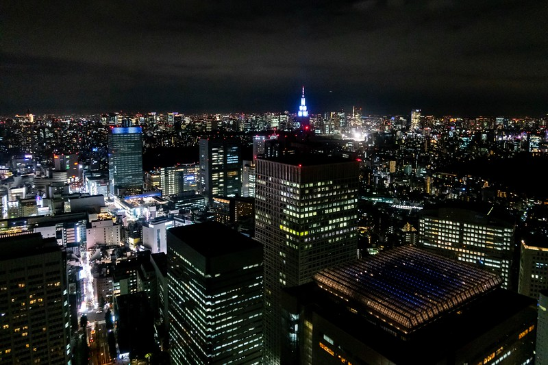 Nice view of the town. Shinjuku station is bottom left and Tokyo Tower can sort of be seen a little to the right.