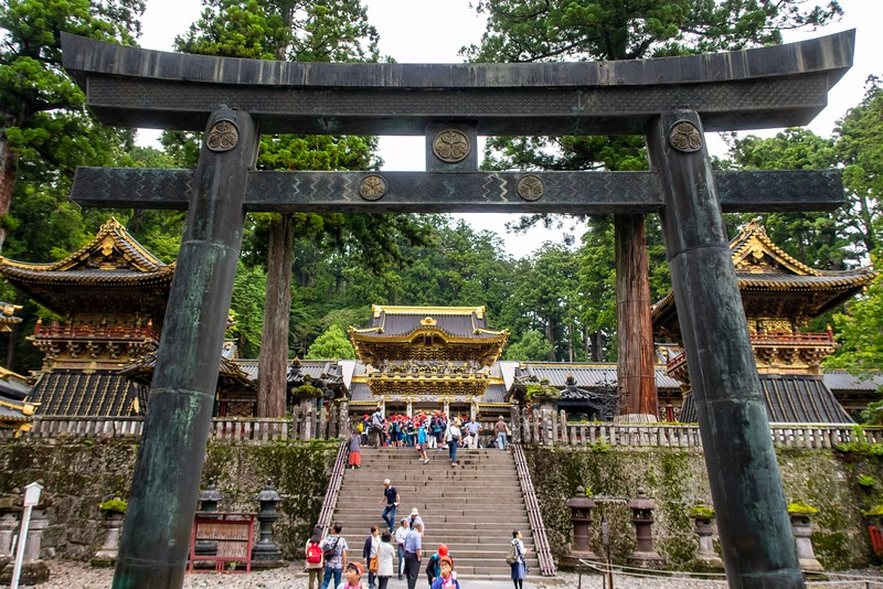 The highlight of Nikko was the Toshogu Shrine.  This is a crazily decorated shrine.  THe detail work was spectacular to look at.