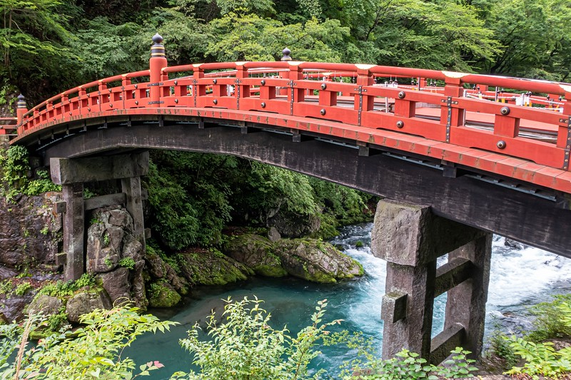 The next day, I took a train to Nikko - a city somewhat near Tokyo famous for its shrines and temples.  There was this cool bridge - the Shinkyo Bridge.