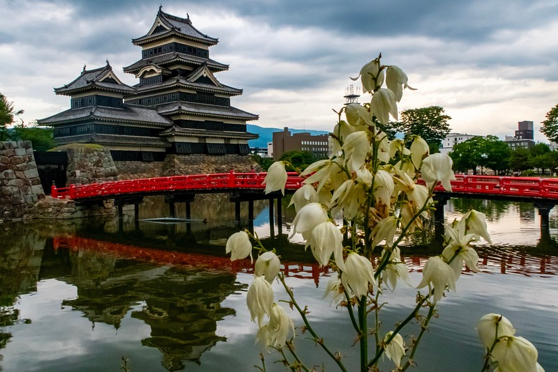Another artsy view of the Matsumoto Castle.